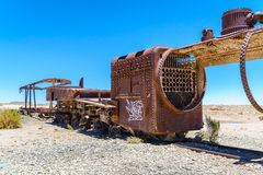 Old rusty steam train Royalty Free Stock Photo