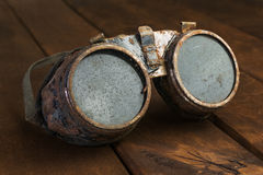 Old rusty steampunk goggles Royalty Free Stock Photography