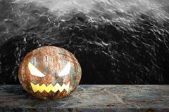 Old rusty steel ball for halloween. Royalty Free Stock Photos