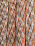Old rusty steel cable background texture pattern Royalty Free Stock Image