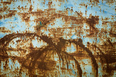 Old rusty steel and corrosion paint Royalty Free Stock Image
