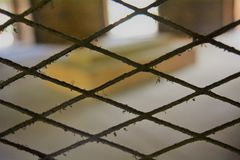 Old & rusty steel mesh Stock Image