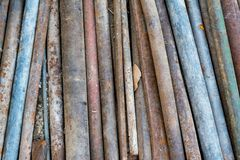 Old Rusty Steel Pipes with the Corrosion. royalty free stock image