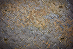 Old rusty steel plate Stock Photography