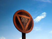 Old rusty stop sign (2) Stock Photography