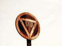 Old rusty stop sign (3) Royalty Free Stock Photography