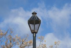 Old rusty street lamp post Stock Images