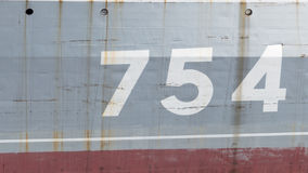 Old rusty surface with numbers Stock Image