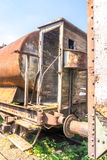 Old rusty, tank wagon, with cab, brake and wheels detail Stock Images