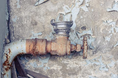 Old rusty tap closeup Royalty Free Stock Image