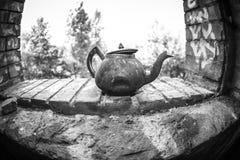 old rusty tea pot Stock Photos