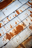 Old rusty tin roof Stock Image