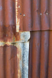Old rusty tin roof Royalty Free Stock Image