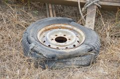 Old rusty tire Royalty Free Stock Photos