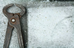 Old rusty tongs Royalty Free Stock Image