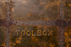 Old rusty toolbox background Royalty Free Stock Images