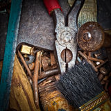 Old rusty tools Royalty Free Stock Photography