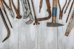 Old rusty tools Royalty Free Stock Photo