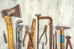 Old rusty tools royalty free stock image