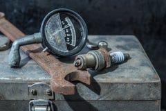 Old rusty tools. Still life stock photo