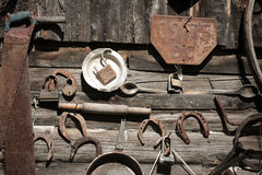 Old rusty tools Stock Images