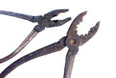 Old rusty tools, pliers, pincers Stock Photography
