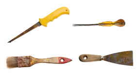 Old rusty tools set Stock Images