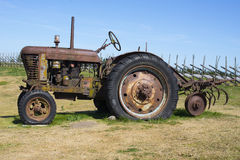 Old rusty tractor. Image of Old rusty tractor Royalty Free Stock Photos