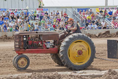 Old Rusty Tractor at Tractor Pull Stock Images
