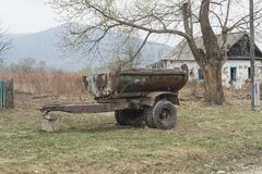 Old rusty trailer royalty free stock images