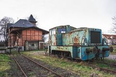 Old rusty train royalty free stock photo