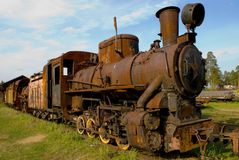Old rusty train Stock Photo