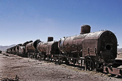 Old Rusty Train Stock Photo