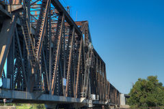 Old Rusty Train Bridge north Royalty Free Stock Photo