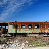 Old rusty train cars Royalty Free Stock Photos