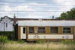 Old rusty train wagon Royalty Free Stock Image
