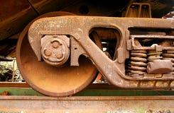 Old rusty train wheels Royalty Free Stock Photo
