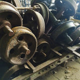 Old rusty train wheels Royalty Free Stock Image