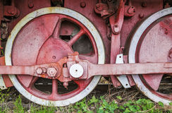 Old rusty train wheels Royalty Free Stock Images