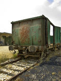 Old rusty train2. Old rusty train and track Stock Image