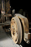 Old and rusty tram wheels Royalty Free Stock Photography