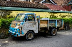 Old and rusty truck car in Jogjakarta Indonesia stock photography