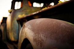 Old Rusty Truck with no windows royalty free stock photo