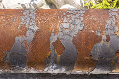Old rusty tubes at the beach Royalty Free Stock Images