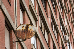Old rusty TV receiver satellite dish Stock Photos