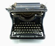 Old rusty typewriter isolated Stock Photo