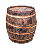 Old rusty vintage barrel isolated on white background Royalty Free Stock Photos