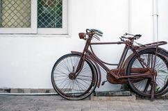 Old rusty vintage bicycle Stock Photography