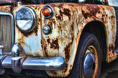 Old rusty vintage classic car Royalty Free Stock Images