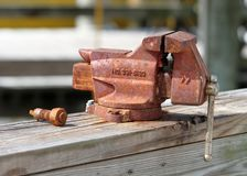 Old rusty vise Royalty Free Stock Images